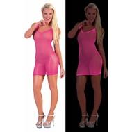 Neon roze net jurk voor party's