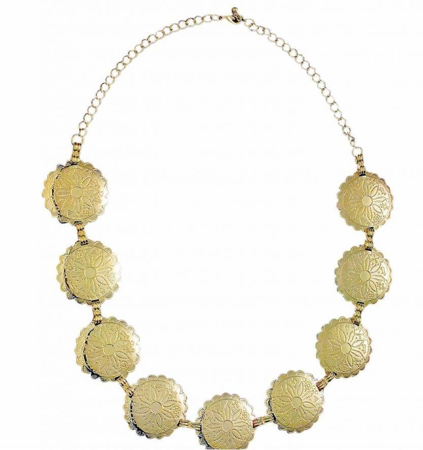 Carnavals sieraden gouden halsketting voor romeinse for Feestversiering goud