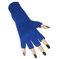 Blauwe vingerloze handschoenen
