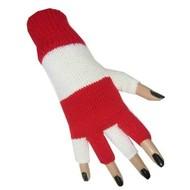 Rood witte vingerloze handschoenen