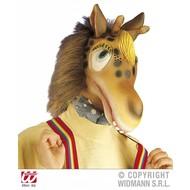 Carnavalstoebehoren Masker giraffe met plush haar