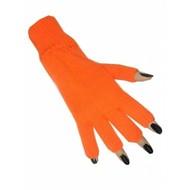Oranjeartikelen: Vingerloze handschoenen Oranje