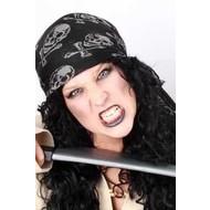 Carnavalsartikelen Bandana piraat, luxe