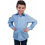 Blauw wit geruite Tiroler blousen