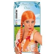 Carnaval- & feest accessoires: Pruik Pippi