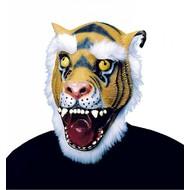 Carnavals-accessoires: Tijger masker met haar (rubber)