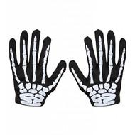Handschoenen skelet halloween