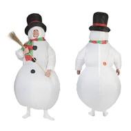 Opblaasbaar sneeuwman kostuum
