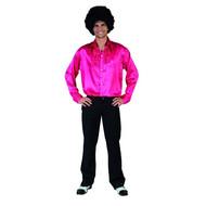 Roze disco heren blouse