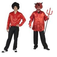 Rode disco heren blouse
