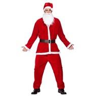 Deluxe kerstmanpak velours