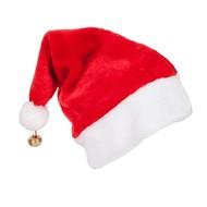 Luxe kerstmuts met belletje