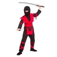 Ninja gevechtspak zwart rood