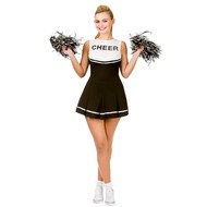 Hoge School Cheerleader pak in zwart