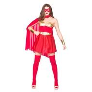 Super sexy Hero jurkje in rood goud