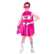 Super Hero jurkje in roze