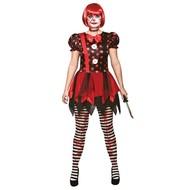 Horror clown jurkje dames
