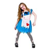Zombie Alice in wonderland jurk kind