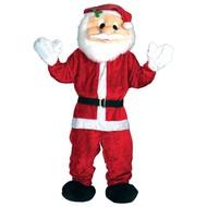 Kerstman pak de luxe mascotte