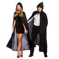 Zwarte cape 132cm