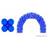 Ballonboog folieballonnen rond Blauw