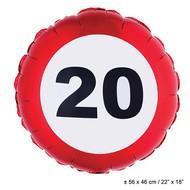 Folie ballon leeftijd 20