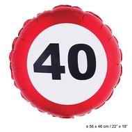 Folie ballon leeftijd 40