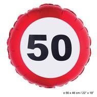 Folie ballon leeftijd 50