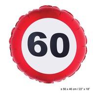 Folie ballon leeftijd 60