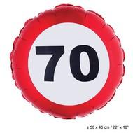 Folie ballon leeftijd 70