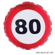 Folie ballon leeftijd 80