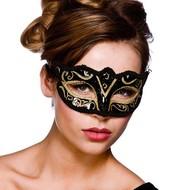 Oogmasker Verona zwart met goud