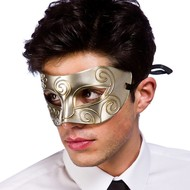 Oogmasker Rome in zilver