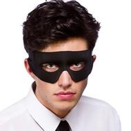 Super helden masker of bandiet oogmasker zwart