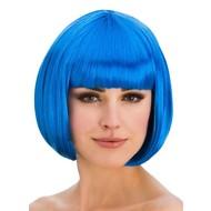 Pruik Diva boblijn blauw