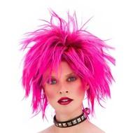 Punker pruik Nina neon roze
