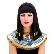 Cleopatra pruik met vlechten