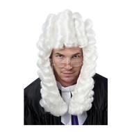 Pruik rechter Marcel wit