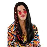 Hippie peace pruik Tim