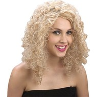 Pruik Curly Stephie in blond