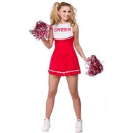 Cheerleader pakje Amber in rood
