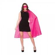 Super Hero cape met masker fuchsia