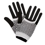 Visnet handschoenen wit