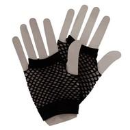 Visnet handschoenen zwart