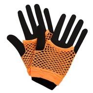 Visnet handschoenen in neon oranje