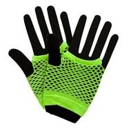 Visnet handschoenen neon groen
