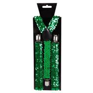 Groene bretel met pailletten