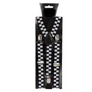 Bretels geblokt in zwarte wit