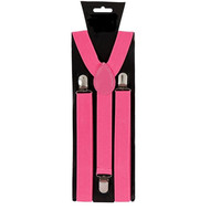 Neon roze bretels verstelbaar