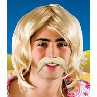 Blonde snor 70-jaren stijl
